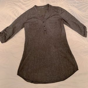Dark Grey Cotton Tunic Top